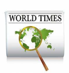 newspaper world vector image
