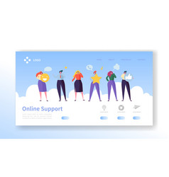 online customer service support landing page vector image