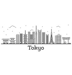 Outline tokyo japan city skyline with modern vector