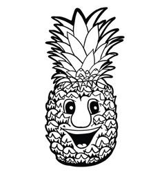 Pineapple with smile vector