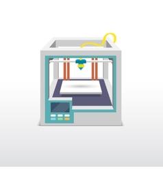 Printing 3d emblem vector