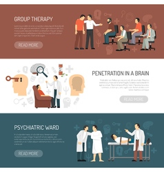 Psychologist Horizontal Banners vector