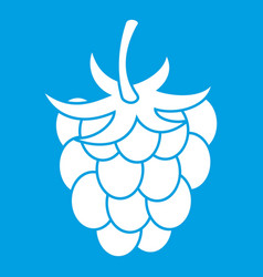 Raspberry or blackberry icon white vector