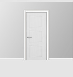 realistic 3d simple modern white closed vector image