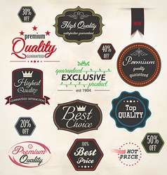 set badge and labels 5 vector image