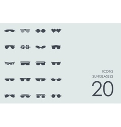 Set of sunglasses icons vector