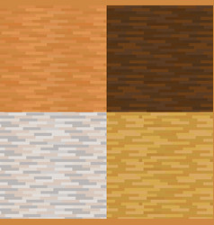 set wood texture backgrounds four colors vector image