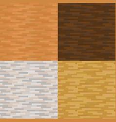 set wood texture backgrounds four colors vector image