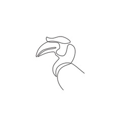 single continuous line drawing beauty great vector image