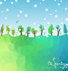 Spring geometric background vector image