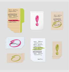 Sticker notes vector