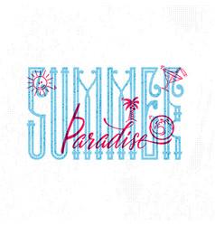 summer paradise retro sign badge banner vector image