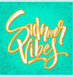 summer vibes lettering background vector image