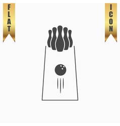 The bowling icon Game symbol Flat vector image