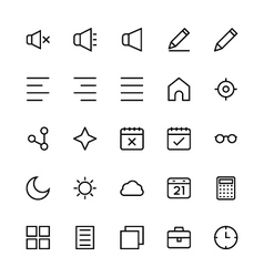User interface colored line icons 8 vector