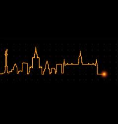 warsaw light streak skyline vector image