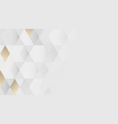 White and gold geometric pattern background vector