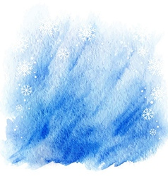 Winter watercolor background light blue sky vector