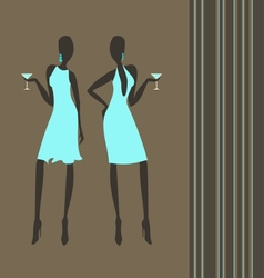 cocktail girls vector image vector image