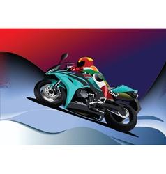 motorbike racing vector image