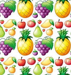 Seamless various kind of fruits vector image