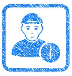 user info framed stamp vector image vector image