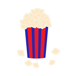 bucket full of popcorn vector image