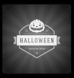 halloween on movie ending vector image