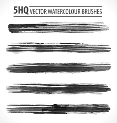 Set of watercolor brushes vector image vector image