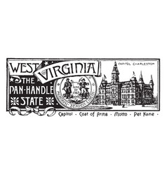 The state banner of west virginia the panhandle vector