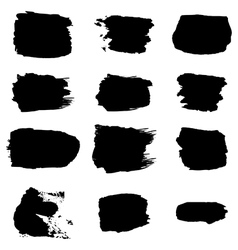 brush stroke black abstract white background vector image vector image