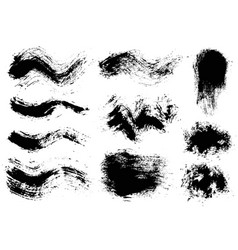 brush strokes set 8 vector image vector image