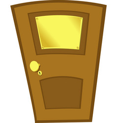Closed door and a placard vector