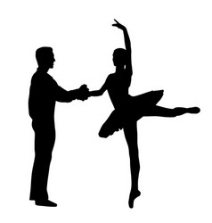 couple ballet dancers vector image