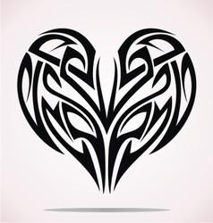 Tribal Heart vector image vector image
