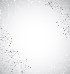 Abstract background from connecting dots and lines vector image