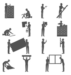 Builders people set vector