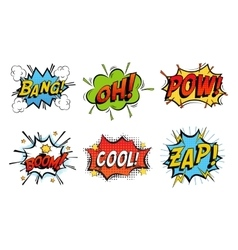Emotions for comics speech like bang and cool vector image vector image