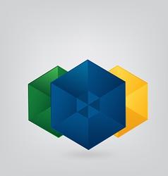Geometric Brazil Background vector image vector image