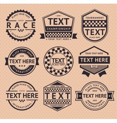 Racing insignia vintage style vector image vector image