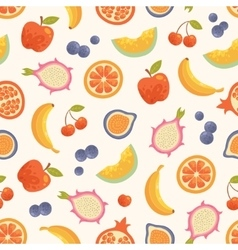 seamless summer fruits background vector image