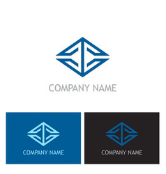 square line geometry business logo vector image vector image
