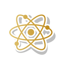 atom sign golden gradient vector image