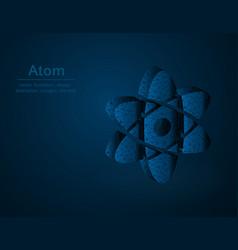Atom symbol low poly molecule polygonal vector