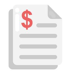 Bank statement vector