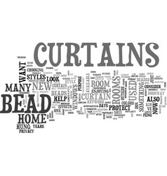Bead curtain text word cloud concept vector