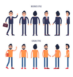 Business and casual styles poster with men vector