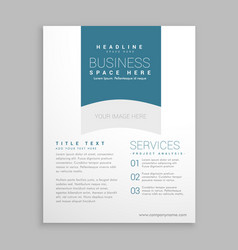 clean white brochure flyer design vector image