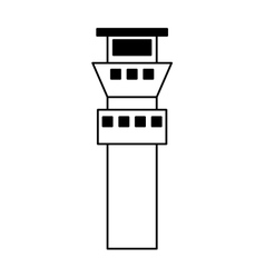Control tower building icon vector