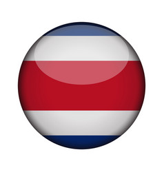 costa rica flag in glossy round button of icon vector image